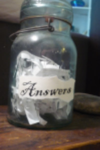 click the jar. get an answer